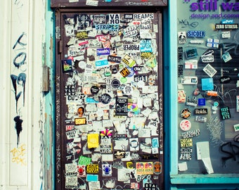 London Photograph, Shoreditch Photo, Street Photography, Stickers, Street art,Travel Photography, Wall Art, Pop Culture Image, Print