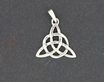 Small Sterling Silver Triquetra Pendant