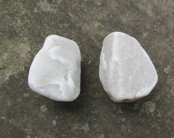 Beach Stone Cabinet Knobs WHITE MARBLE Natural Beach Stone Cabinet Knobs