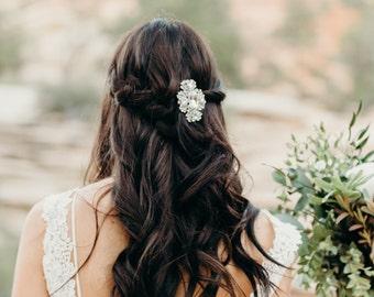 Clear Pave Rhinestone Bridal Hair Clip, Rhinestone Hair Clip, Bridal Hair Clip, Rhinestone Barrette, Rhinestone Hair Clip, Bride EVERLEIGH