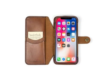 iPhone X Leather Flex Wallet Phone Case, iPhone X case, iPhone 10 wallet, leather phone case, leather iphone x case, iphone X phone wallet