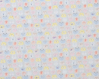 Japanese double gauze cat fabric by Cosmo - 1/2 YD