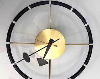 Modernist Steering Wheel Wall Clock by George Nelson for Howard Miller