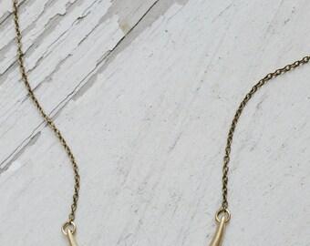 SALE crescent - moon necklace