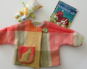 baby girl or boy wool jacket kangaroo size 1