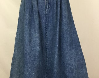 Vintage Mid Length Denim Aline Skirt by Coca Cola