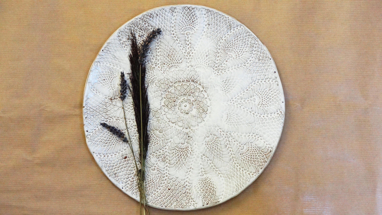 serving dinner plate white wedding tableware platter ceramic gift for the couple texture & serving dinner plate white wedding tableware platter ceramic gift ...