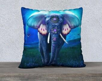 fantasy elephant original art pillow case
