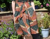 Vintage 70s patchwork print Dress Gypsy Festival dress Folk boho hippy Midi shirt Dress s m Uk  10 12 US   6 8  cotton dress 40s