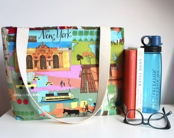 New York City Tote Bag Market Bag Book Bag