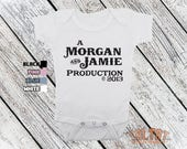 Bodysuit or Toddler Shirt, Production Personalized with Parents and Birth Year Baby, Baby shower gift, Girls, Boys
