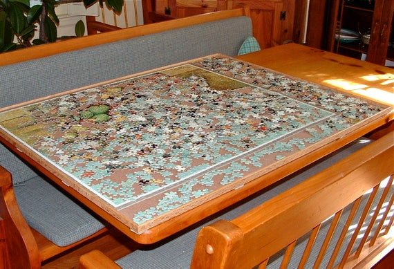 1500 Piece Large Jigsaw Puzzle Board Portable Vertical