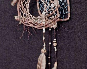 Dreamcatcher #1312- Double Web Spiral-  Native American Tribal Art