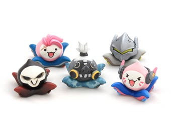 Overwatch Costumed Pachimari - Roadhog - OOAK Sculptures