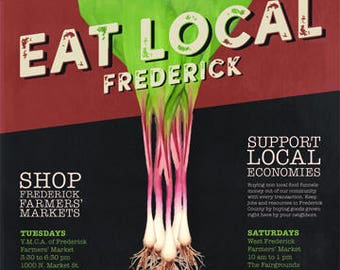 Eat Local Frederick Poster: Ramps 18x24
