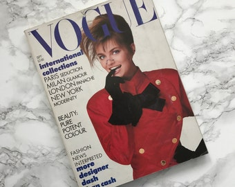 Vintage September 1987 VOGUE Magazine / International Collections Issue / British UK Edition