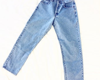 PERFECT Calvin Klein High Rise 100% Cotton Jeans with CK Button Fly sz 26 27 28