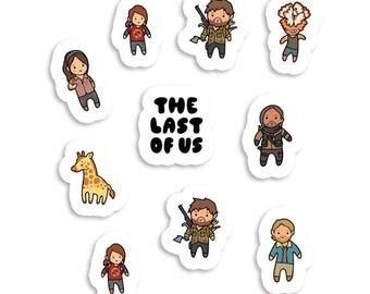 The Last of Us ~ Naughty Dog ~ Sticker Sheet 70mm x 100mm