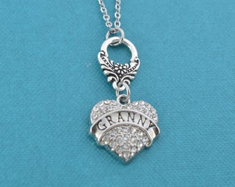Granny Charm Pendant Necklace.  Gift for Granny.  Granny gifts.   Grandmother gifts. Gifts for grandmothers.
