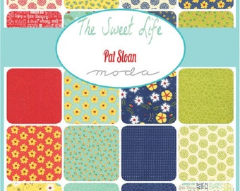 "SALE Charm Pack ""The Sweet Life"" Prints by Pat Sloan for Moda Fabrics SALE 42, 5-inch Squares Quilter's Cotton"