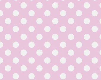 Cream & Pink Dot Fabric, Riley Blake C630 75 Le Creme Dot Medium Baby Pink, Polka Dot Quilt Fabric, Pink Dot Fabric, Cotton, Fat Quarter, FQ