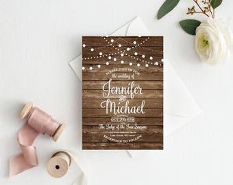 Rustic Wedding Invitation, Country Chic, Fall Wedding, Rustic Wedding, Printable Wedding Invitation, Digital Invitation, Printable #CL101