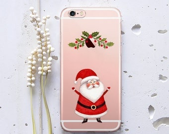 Christmas Case iPhone X Case for Samsung S8 Case Santa Claus iPhone 8 Case iPhone 7 Case iPhone 6s Case Gift Phone Case iPhone 6 Case WC1001