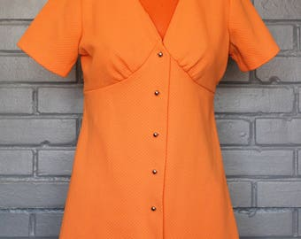 Vintage 1960's Orange Creamsicle Tunic Top