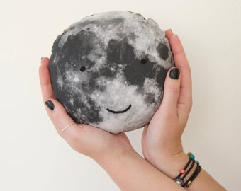 Moonface Cushion, Moonface Pillow, Moon Cushion, Home Decor Cushion, Retro, Space Cushion, Softie