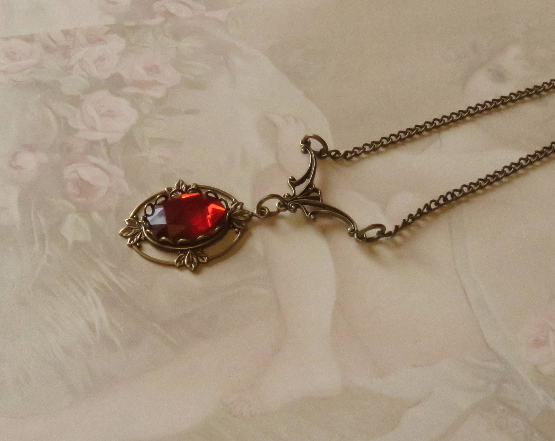 crescent rose antique diamond design ruby era cut vancouver necklace pendant products