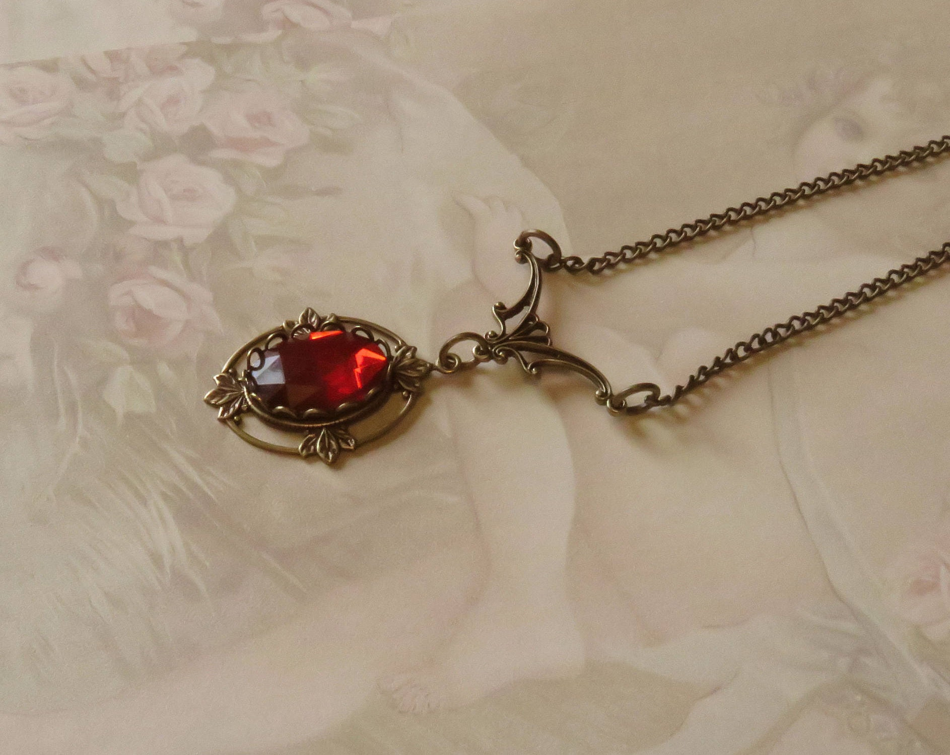 ruby necklace antique gold pendant with and designs uncut youtube diamond watch