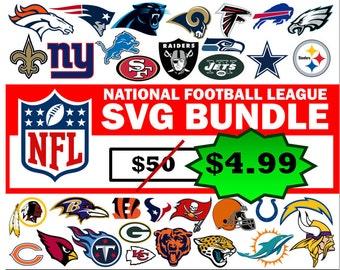 NFL svg BUNDLE, All teams svg, dallas cowboys svg, arizona cardinals svg, green bay packers svg, new orleans saints svg, svg, svg files