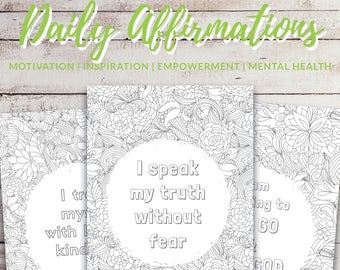 Self care printable, Quotes for coloring, Sentimental gift, Good vibes only, Anti anxiety, Inspirational coloring, Positive affirmation