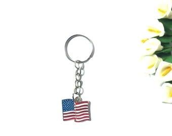 Keychain America / USA - Keychain Men - Keychain Silver - Keychain  Women - Keychain Flag - Keychain  Country