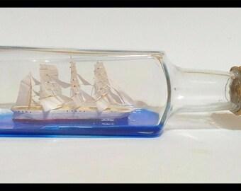 Ship In a Bottle - Bottle Ship - Model Ship - Sail Ship Model.Nautical decor.