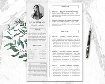 Resume Template | Modern Resume Templates Mac PC Creative Resume Design |  1 3 Pages  Resume Template For Mac