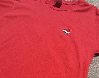 """Mario Kart Inspired """"Red Shell"""" Embroidered T-Shirt"""