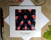 Wine funny card - wine photography card - birthday card for wine lover - literary quotation card