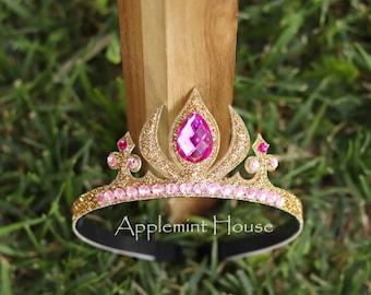 Aurora Crown,Aurora Headband, Sleeping Beauty Crown,Birthday Aurora Crown,Sleeping Beauty Tiara,Sleeping Beauty Birthday,Aurora Tiara