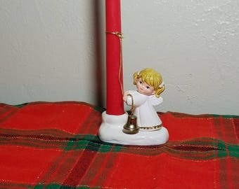 Colonial Candle Christmas Angel Ceramic Candle Holder / Hugger - Japan