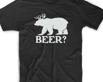 Beer T Shirt Custom Geek Nerd Gamer Funny Unique Fun Deer Always Novelty Sunny Bear