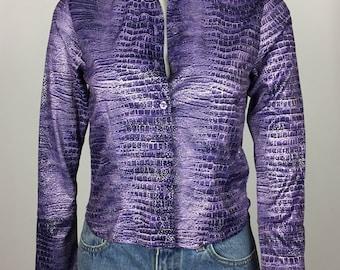 Faux Alligator Skin Shirt