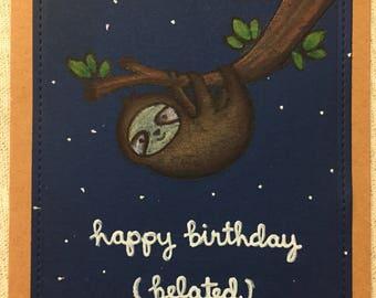 Handmade Belated birthday card