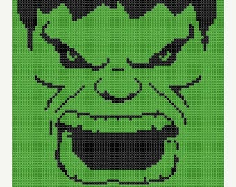 hulk Cross Stitch marvel Cross Stitch Pattern Pdf  - 85 x 134 stitches - Cross Stitch Pattern Pdf - INSTANT Download - B903