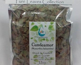 Cundeamor Pure Leaves, Dried & Crushed (Momordica balsamina) (3oz, 8oz, 12oz)