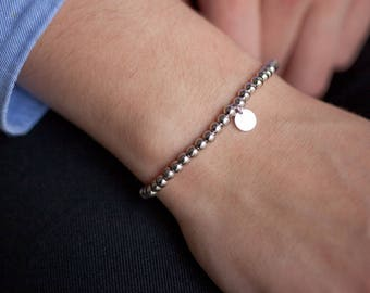 Bracelet with sterling silver beads