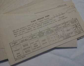 Vintage WW2 First Fighter Command Flash Reports