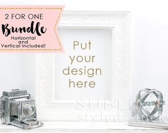 Styled Stock Photography / Blank Frame Mockup / Mockup / Wall Art Display / Empty Frame / Mock up Frame / Print Display / StockStyle-866