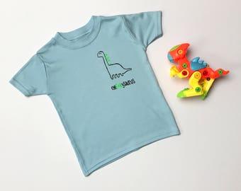 Funky cheekysaurus dinosaur print children's t-shirt