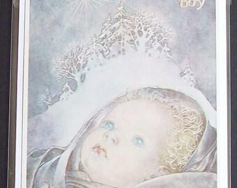 Hand made New Baby Boy Card